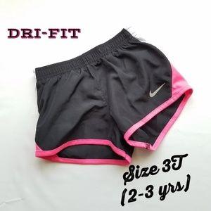 Nike Dri-Fit black active shorts girls size 3T
